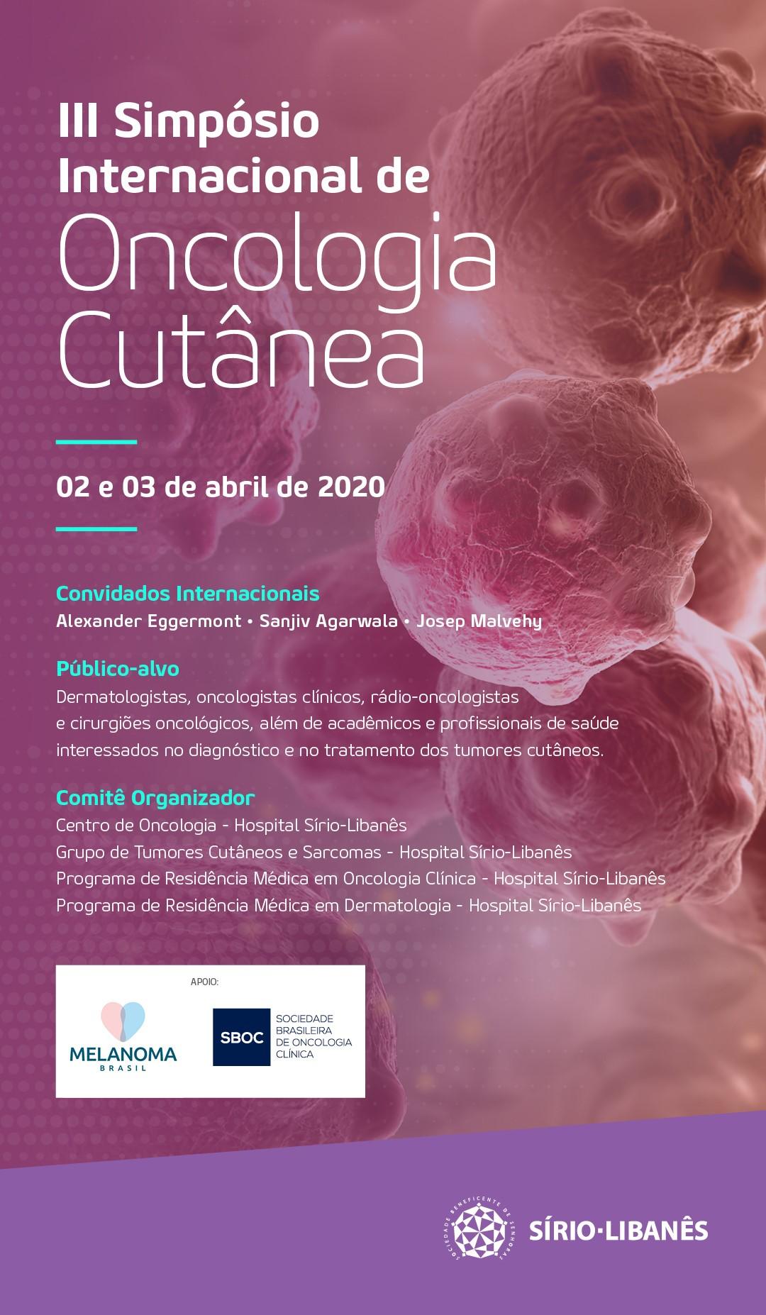 III Simpósio Internacional de Oncologia Cutânea - Mais informações
